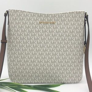 Michael Kors LG MESSENGER Crossbody VANILLA
